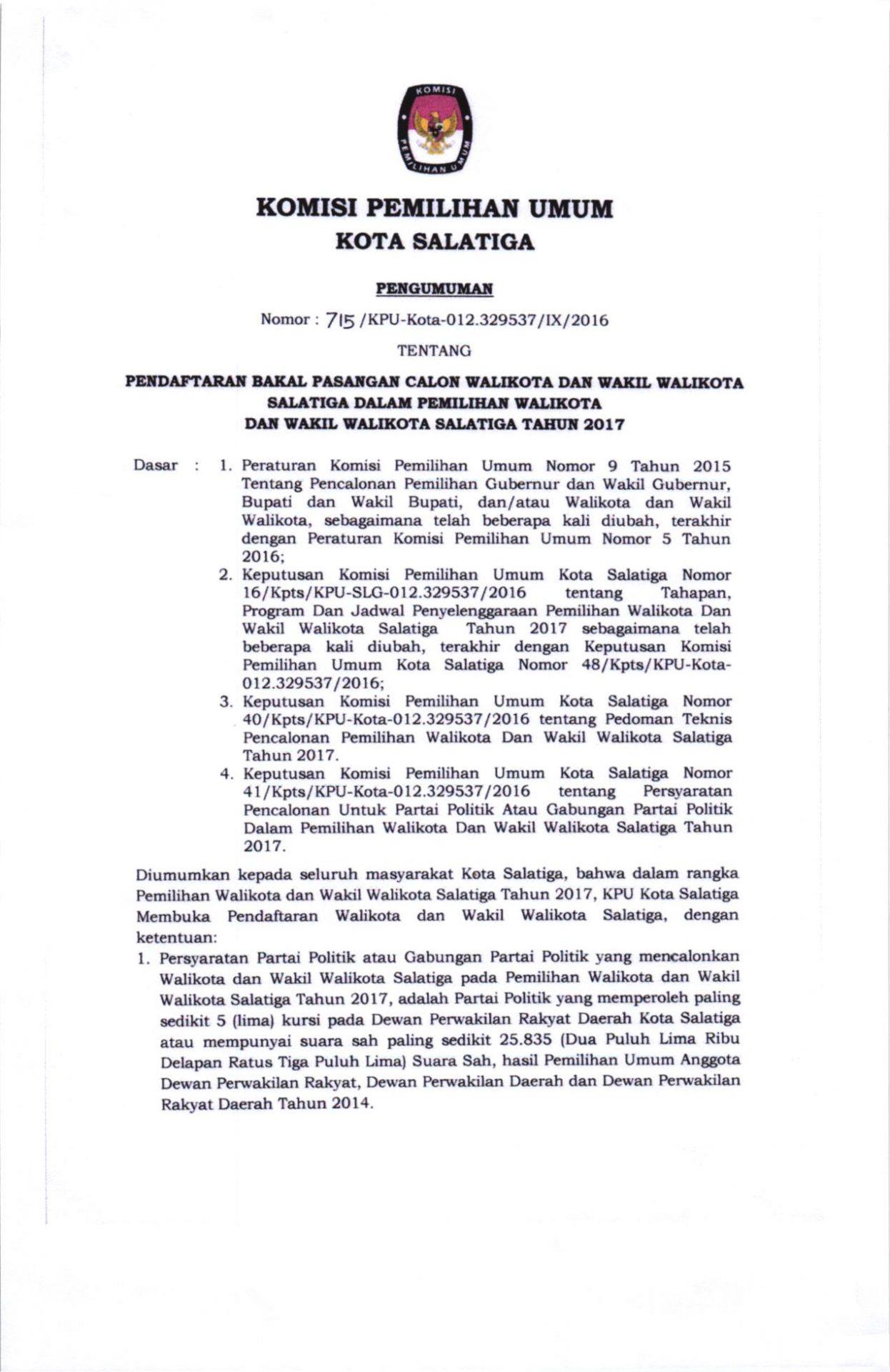 Walikota Dan Wakil Walikota Kpu Kota Salatiga